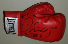 FLOYD MAYWEATHER SIGNED AUTO EVERLAST BOXING GLOVE BAS #H13240 **INSCRIBED**