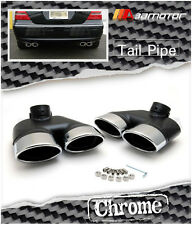 CHROME TAILPIPE TAIL PIPES REAR BUMPER EXHAUST 4 TIPS for MERCEDES W220 S-CLASS
