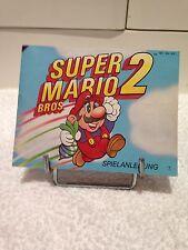 Super Mario Bros 2 Notice ( Nintendo NES )