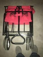 Sandusky 3.5 cu. ft. 22 in. W Folding Utility Cart