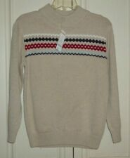 NWT Gymboree Boys Beige Cotton Sweater Knitted Size 10-12 Large