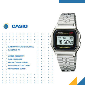 GENUINE Casio A159WA-N1 Unisex Vintage Digital Watch Stainless Steel Japan Made