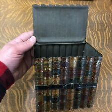 Antique toleware box shaped like a book bundle