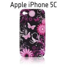 TPU gel silicone case cover Art black for Apple iPhone 5C