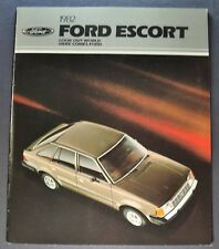 1982 Ford Escort Catalog Brochure L GL GLX GT Wagon Excellent Original 82