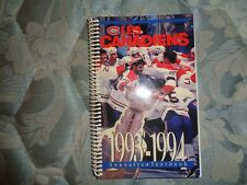 1993-94 MONTREAL CANADIENS MEDIA GUIDE YEARBOOK 1992-93 NHL CHAMPIONS!! 1994 AD