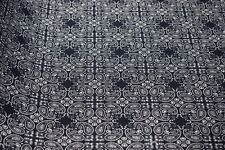 "Navy Blue Paisley 6oz. Duck Print Fabric Upholstery Drapery Cotton Poly 60""W"