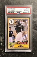 2020 Topps Throwback 1987 TBT #167 Luis Robert Rookie Card RC PSA 10 HOT!!