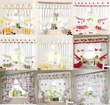 Ready Made Kitchen Window Curtains Inc Free Tiebacks - Pelmets Sold Seperately
