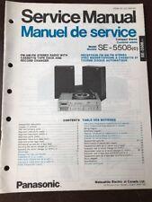 Original Panasonic Technics Model SE-5508 Stereo Turntable Service Manual