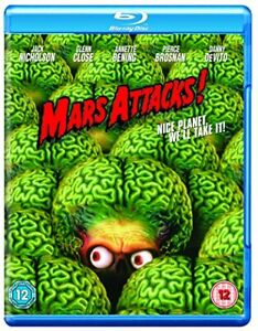 Mars Attacks! [Blu-ray] [1996] [Region Free] [DVD][Region 2]