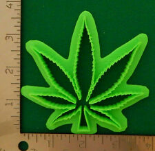 Cannabis Pot Leaf Hemp Weed Novelty Cookie Biscuit Fondant Cutter 4 Inch