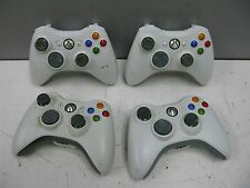 Lot of 4 Microsoft XBOX 360 OEM Wireless Video Game Controllers (White)