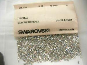 200 swarovski rhinestones,24pp crystal AB #1100
