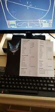 Acorn BBC  B Micro Computer Elite Commander Quick Reference Card