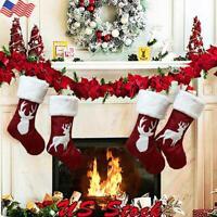 Christmas Pendant Christmas Socks Gift Bag Large Deer Pattern Decoration Socks