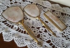 Vintage Dressing Table Vanity Grooming Embroidery Set