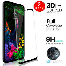 For LG G8 ThinQ - Full Cover 3D Tempered Glass Film Screen Protector [2-PACK]