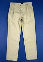 Ivy oxford pantalone uomo usato gamba dritta W38 tg 52 relaxed fit beige T6621