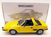 Minichamps 1/18 Diecast - 100 121664 Fiat X1/9 1974 Yellow Model Car