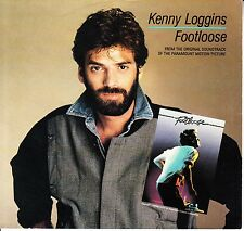 """KENNY LOGGINS  Footloose  PICTURE SLEEVE 7"""" 45 rpm record + juke box title strip"""