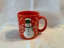 Vintage Waechtersbach Germany Red Christmas Snowman Coffee Mug Cup Winter