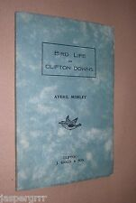 c1930s. BIRD LIFE ON CLIFTON DOWNS. AVERIL MORLEY. 1st EDITION. BOOKLET.