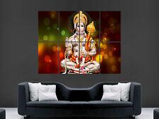Dieu hanuman hindou dieu singe argent image grand mur affiche photo