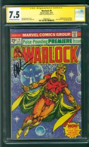 Warlock 9 CGC 7.5 SS Jim Starlin Avengers Guardians Galaxy 1st New Costume 10/75