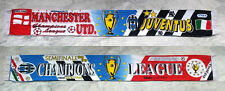 SCIARPA JUVENTUS MANCHESTER UNITED 1998-99 CHAMPIONS LEAGUE SCARF CELEBRATIVE