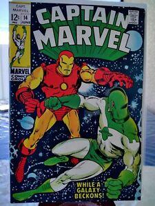 1969 CAPTAIN MARVEL 14 VF/NM (9.0) VS. IRON MAN