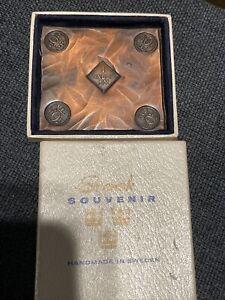 SWEDISH COPPER PLATE MONEY Svensk Souvenir See Pictures