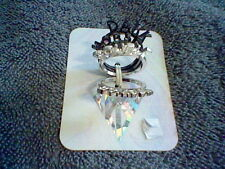 BRAND NEW KATY PERRY SIZE 6 DOUBLE RAINBOW AND DARK HORSE RING SET