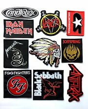 Wholesale 10 x Heavymetal Rock Band Embroidered & Woven Sew/ Iron On Patches DIY