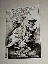 Dynamite LONE RANGER GREEN HORNET #2 1:25 Sketch Black & White Variant NM