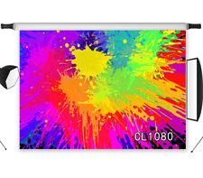 7X5FT Colorful Paint Graffiti Vinyl Studio Backdrop Background Photography Props