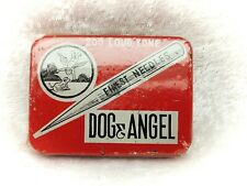 More details for dog and angel-vintage gramophone needles tin-still sealed with contents