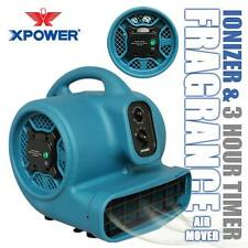 XPOWER P-450NT Freshen Aire Scented Air Mover Carpet Dryer Fan w Ionizer & Timer