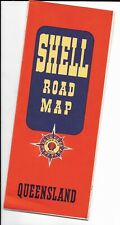 Australia map Queensland map 1950, Shell Road Map of Queensland
