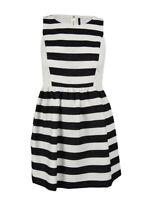 Kensie Women's Striped Fit & Flare Dress