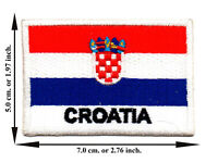 Croatia Flag Travel Country Sports Iron On Patch Sew Applique Embroidered Crafts