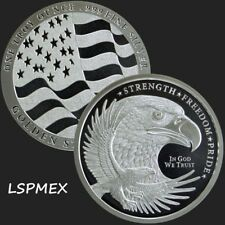 American Bald Eagle With USA Flag - Strength, Freedom & Pride 1 oz Silver Round