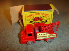 Old Vtg MATCHBOX #13 Thames Trader Wreck Truck Toy Made In England With Box