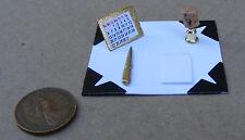 1:12 scala fermo Set Scrivania Casa Bambole Miniatura Scuola Studio Accessorio
