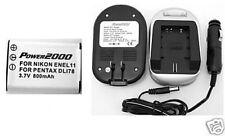 Battery +Charger f/ Sanyo VPC-E10 DMX-E10 VPCE10 DMXE10