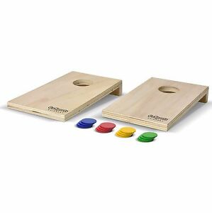 GoSports Coinshot Mini Cornhole Game Set - Includes 2 boards and 16 coins