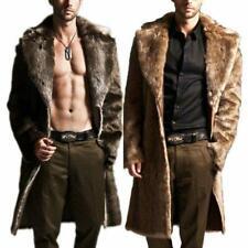 Mens Winter Faux Fur Warm Coat Parka Male Fashion Jacket Overcoat Clothes Parkas