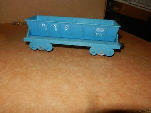 MARX  #967 NYC Dump Car,  Blue, 4 Wheel, Plastic,  Original