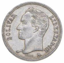 SILVER Roughly Size of Quarter 1960 Venezuela 1 Bolivar World Silver Coin *800