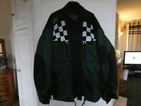 "Genuine Triumph ""Triple Collection"" XXL textile jacket in green/black. Armour."